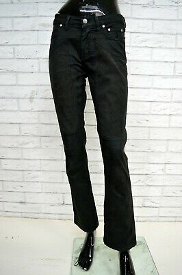Pantalone JECKERSON Donna Taglia Size 27 Jeans Pants Trousers Woman Nero Slim