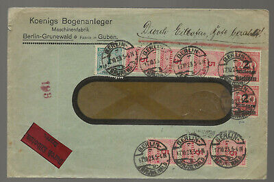 Germany Sc# 309A,317,312 X 9 Used Stamps On Cover