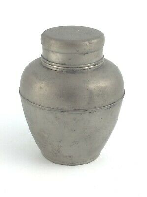 Antique Chinese pewter Tea Caddy Jar