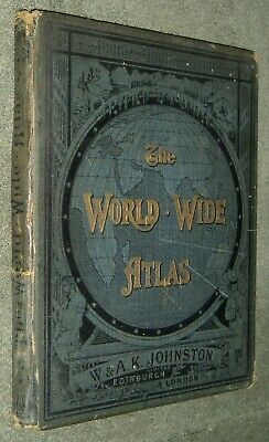 The World Wide Atlas Political & Physical - W & A.K. Johnson - 1904 - Map Plates