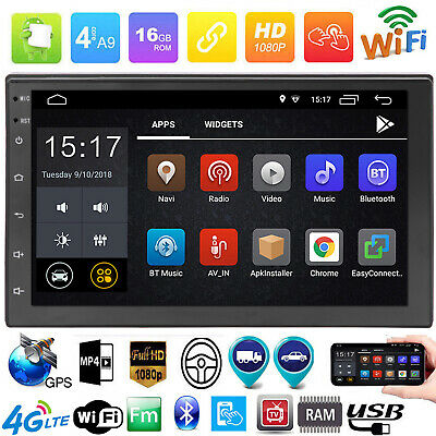 """7"""" 1080P FHD Touch Android 8.1 Car Stereo MP5 Player GPS WiFi BT4.0 FM Radio USB"""