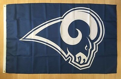 07b2f88e LA RAMS FLAG 3x5 Los Angeles Banner NFL Stars and Stripes Poster NEW ...