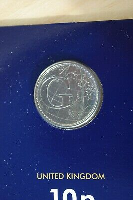 10p COIN A-Z G GREENWICH MEAN TIME BRAND NEW B UNCIRCULATED 2018  #39