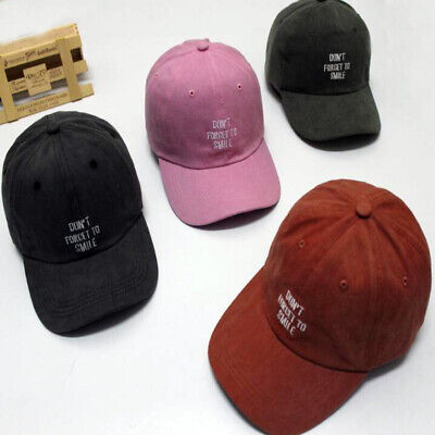 Washed Cloth Embroidery Letter Sun Hat Kpop Bboy Strapback Snapback Baseball Cap