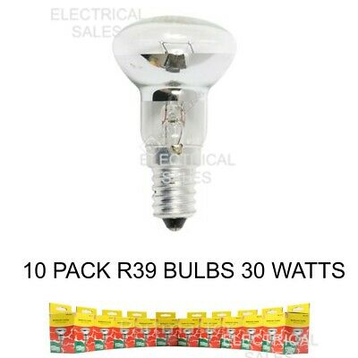 10 Pack Wellco R39 Ses E14 Base Dimmable Reflector Spot Bulb Lamp 30W Wel8130