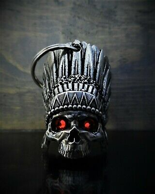 7799d9d4a54 DIAMOND INDIAN SKULL Ride Bell guardian to protect against motorcycle  gremlins