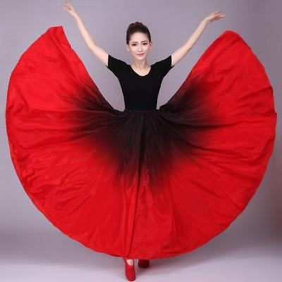 49ac5984e6a1 Women's Latin Stage Dance Skirt Cha Cha Spanish Modern Ballroom Show Dress  B945