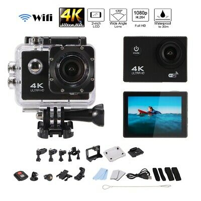4K Ultra HD Sports Camera Wifi DV Action Helmet Cam Camcorder with Remote AH390