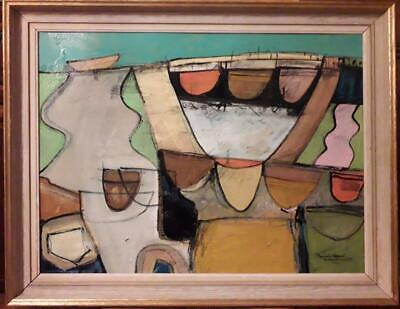Amazing Large Cornish School - 'mousehole Abstract. Boats & Forms Ii'