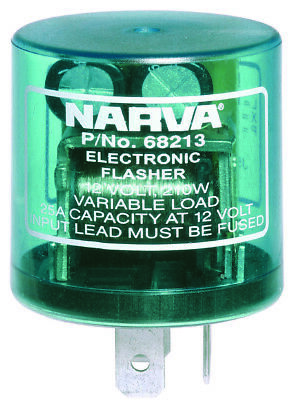 Narva Flasher Electronic 12V 3 Pin 68213BL fits Toyota Land Cruiser 40 Series...
