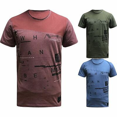Mens T Shirt Dissident Crew Neck Top Short Sleeve Raised Printed Casual Summer
