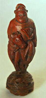 Very Fine Old Chinese Qing Buddha Buddhist Carved Hediao Nut