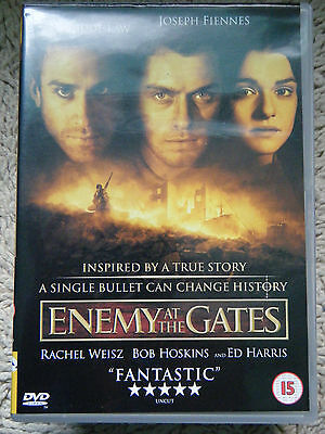 Enemy At The Gates Jude Law Joseph Fiennes Ed Harris Ww2 Sniper Disc Perfect