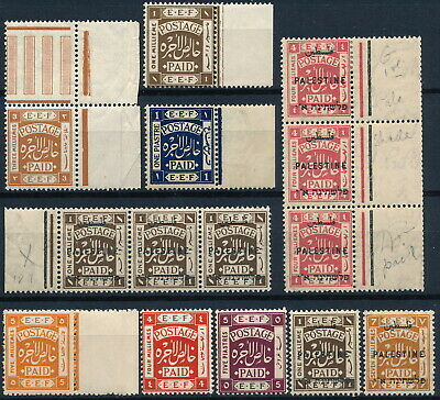 Palestine, First Issues, Nice Um/nh Lot Of Diff. Blocks, Pairs & Singles.  #l980