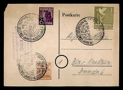 Dr Who 1947 Germany Berlin Postal Card C81558