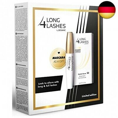 Long4Lashes FX5 Power Formula Wimpernserum 3ml + Pflegende Schwarz Mascara 10...