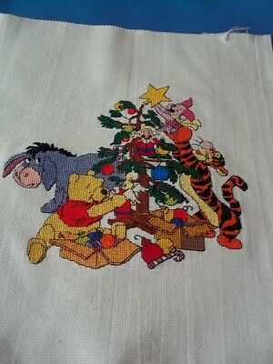 completed cross stitch winnie the pooh design