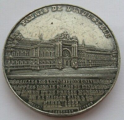 1855 FRENCH MEDAL BY CAQUE EMPRESS EUGENIE THE PALACE OF INDUSTRY 50mm 50gr
