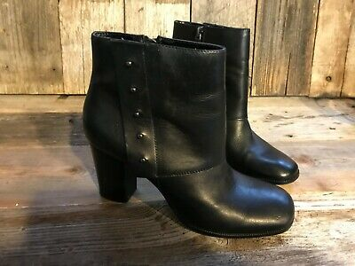 0c33695b3fa0 Bandolino Women s Black Soft Leather Ankle Boots Booties Size 8M 3