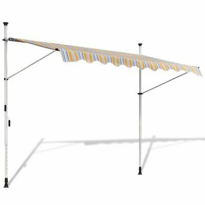 Retractable Awning 400 cm Manually-operated Yellow/Blue