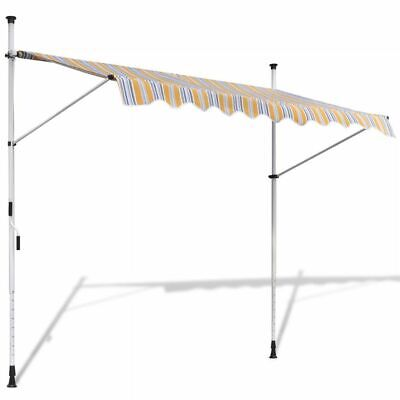 Retractable Awning 250 cm Manually-operated Yellow/Blue