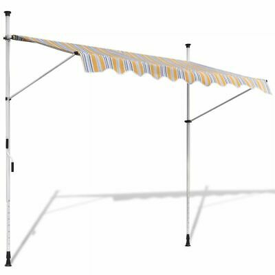 Retractable Awning 300 cm Manually-operated Yellow/Blue