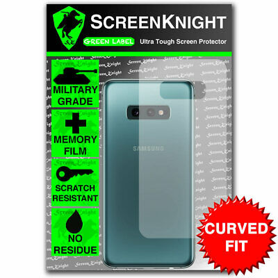 ScreenKnight Samsung Galaxy S10E BACK PROTECTOR - CURVED FIT