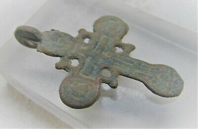 Superb 17Th-18Th Century Post Medieval Religious Cross Pendant Wearable