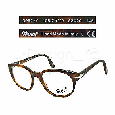 7cee9508c2 Persol 3052-V 108 Caffe Eyeglasses Rx Eyewear - Made in Italy - New  Authentic