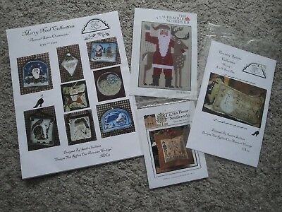 4 x Cross Stitch Patterns / Booklets - Christmas themes