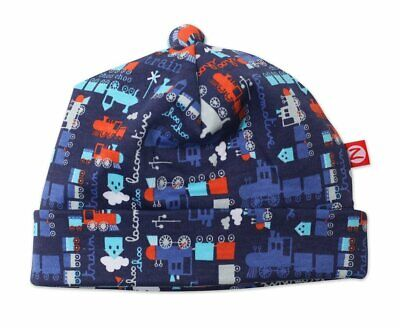 bdaf65f8a5a65 Zutano Infant Baby Hat Trains Little Engine 100% Cotton for Size 12 Months  New