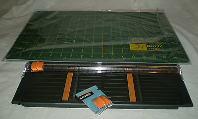 New Birch Craft Double Sided Cutting Mat & Fiskars 30Cm Paper Trimmer