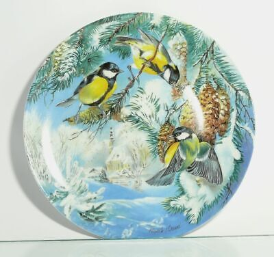 Collection Plate Hutschenreuther Bird Titmouse on Foraging - Certificate Boxed