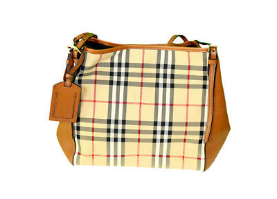 4edeeb6f4122 Burberry Horseferry Check Small Canterbury Panels Tote Brown Org  1250