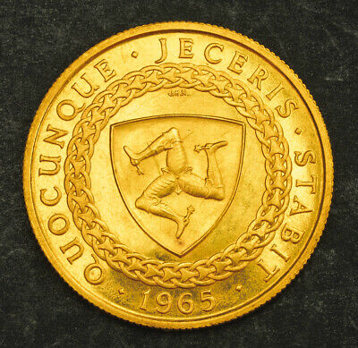 1965, Isle of Man. Beautiful Gold ½ Sovereign Coin. (4.03gm!) Only 1,500 Struck!
