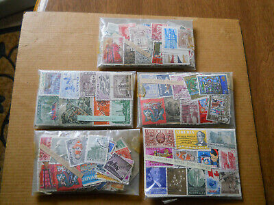 V. Large Lot Of 2,500 Old Worldwide Stamps in 5 Packets Of 500 Each - Unchecked