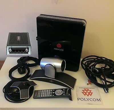 Polycom HDX 8000 HD PAL Conferencing System. Cables Included.