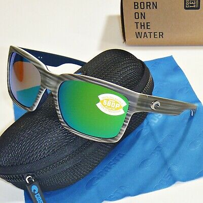 583f347e43 Costa Del Mar Playa Polarized Sunglasses - Silver Teak   Green Mirror 580P  Lens