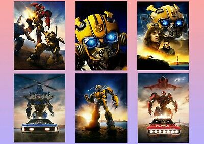 TRANSFORMERS - Bumblebee: Dropkick, Shatter A5 A4 A3 Textless Film Posters