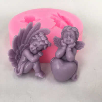 new boy&girl heart shape angel mold soap silicone mold form for soaps wholesale