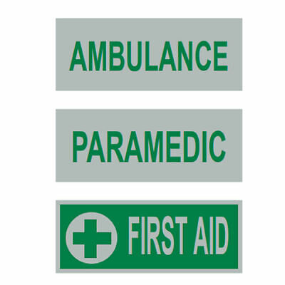 Reflective Badge Front Hi Vis Heat Applied Ambulance Paramedic First Aid