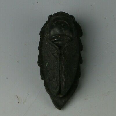 Chinese Natural Jade Hand-carved Cicada Pendant MY0628