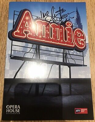 Anita Dobson SIGNED Annie Theatre Manchester Programme Eastenders Autograph 2019