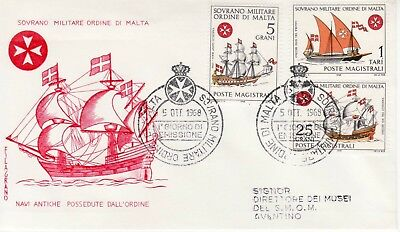 Sovereign Military Order of Malta SMOM FDC 1968 Navy (a)