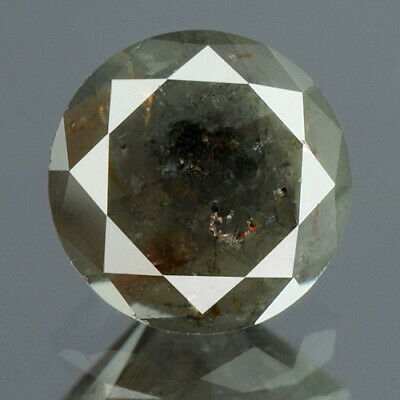 0.76 cts. CERTIFIED Round Brilliant Dark Gray Color Loose Natural Diamond 14276