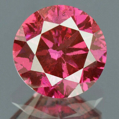 0.33 cts. CERTIFIED Round Cut SI3 Vivid Purple Pink Loose Natural Diamond 11961