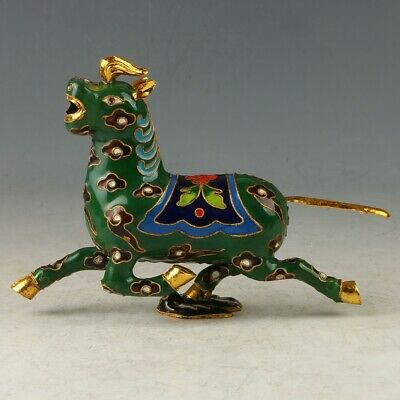 Chinese Cloisonne Hand Carved Horses & Swallow Statues MY0664