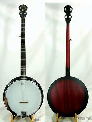 Rally 5 String banjo high quality,mahogany resonator,geared tuners MB100 series@