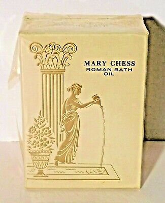 Vtg. Mary Chess Roman Bath Oil in Tuberose 2 oz Sealed NOS RARE