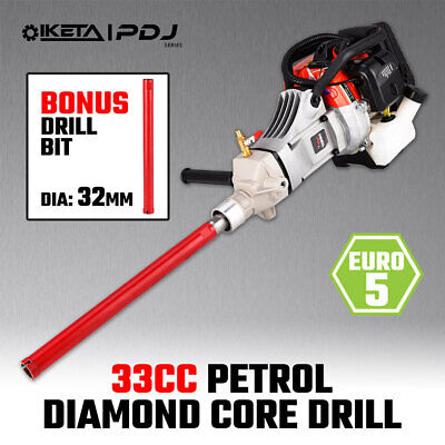 IKETA Diamond Core Drill Petrol 33cc Concrete Brick Tile Dry Wet Drilling Bit